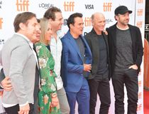 Producers and Director Mark Raso, Jason Sudeikis and Ed Harris at Kodachrome premiere at TIFF17 Royalty Free Stock Photography