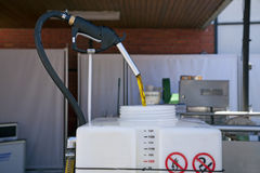 Producing of biodiesel Stock Photos