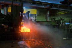 Producing steel in foundry Stock Images