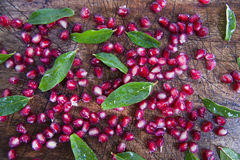 Product Of The Autumn Season Pomegranate Royalty Free Stock Photo