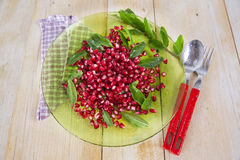 Product Of The Autumn Season Pomegranate Royalty Free Stock Image