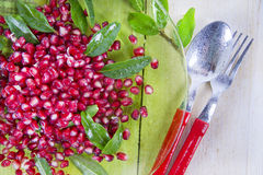 Product Of The Autumn Season Pomegranate Royalty Free Stock Photography