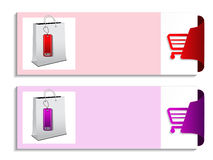 Product banner - shopping offer template Royalty Free Stock Image