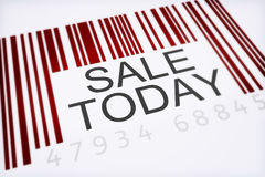 Product bar code concept. Of a big sale isolated on a white background Stock Photography