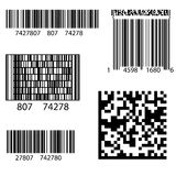 Product Barcode 2d Square Label Stock Photos