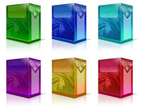 Product Box. 6 different 3d boxes that we can use to show our software and product package Royalty Free Stock Images