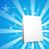 Product box. Star product box on retro background Stock Photography
