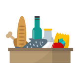 Daily product box vector illustration. Stock Photo