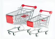 The product cart on wheels Royalty Free Stock Photo