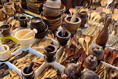 Product from Coconut shell carving Royalty Free Stock Photography
