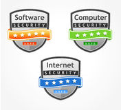 Product Comparison Badges, Color coded Royalty Free Stock Photography