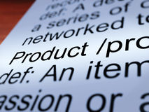 Product Definition Closeup Showing Goods For Sale Stock Photo