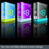 Product design. Fully editable new product box design Stock Photography