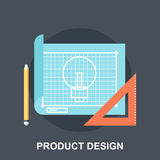 Product Design. Vector illustration of product design flat concept Stock Images