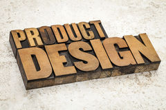 Product  design in wood type Royalty Free Stock Photo