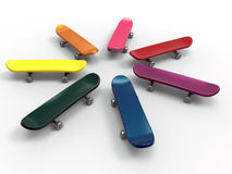 Product diversity - skateboards Royalty Free Stock Images