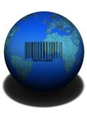 Product Earth. A barcoded earth Stock Photo