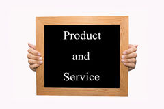 Product en de dienst stock afbeeldingen