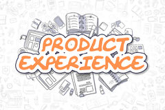 Product Experience - Cartoon Orange Word. Business Concept. Stock Image