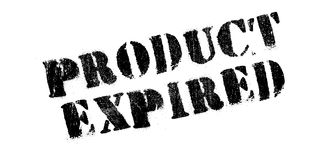 Product Expired rubber stamp Royalty Free Stock Photography