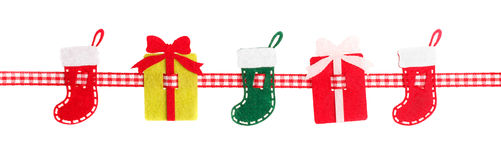The product of felt. Christmas theme on a white background royalty free stock images