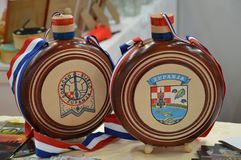 Product and handiwork from exhibitors. Product and handiwork from Croatian exhibitors at 16 international fair tourism and ecology List from Lukavac 3-5 may 2018 Stock Images