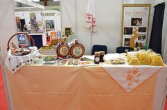Product and handiwork from exhibitors. Product and handiwork from Croatian exhibitors at 16 international fair tourism and ecology List from Lukavac 3-5 may 2018 Stock Photo
