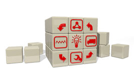 Product idea life cycle Stock Image