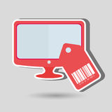 Product identification code design Royalty Free Stock Photos