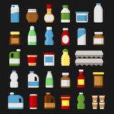 Product Items Set. Food and Drinks Icons. Vector. Illustration Royalty Free Stock Photography