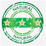 Product label. Natural food or product label Royalty Free Stock Image