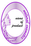 Product label for natural cosmetics Stock Photos