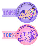 Product label safe for children Stock Photos