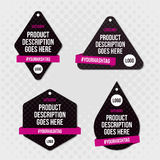 Product label swing tag design Stock Photography