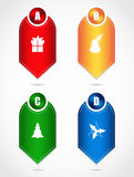 Product labels. With special christmas design Stock Images