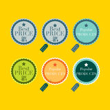 Product labels. Vector illustration of the label icons Stock Photo