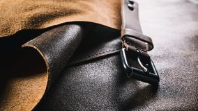 Leather Product Manufacturing Stock Photography