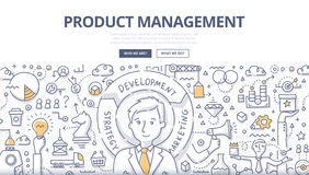 Product Management Doodle Concept royalty free illustration