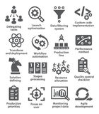 Product management icons Stock Images