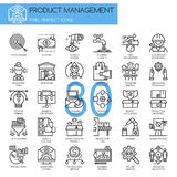 Product management , thin line icons set Stock Photos