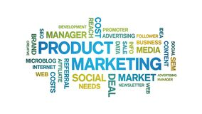 Product Marketing Animated Tag Word Cloud,Text Design Animation seamless loop.