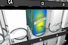 Product Marketing de Machine van de Verkoopsnack adverteert vector illustratie
