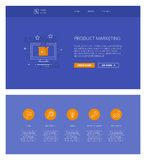 Product Marketing  design template for websites and apps Stock Photography