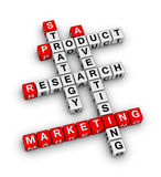 Product marketing. (red-white crossword series Stock Image