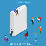 Product packaging empty box flat isometric vector 3d Stock Photo