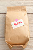 Product paper bag with branding concept royalty free stock photography