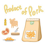 Product of pork for Cooking Royalty Free Stock Images