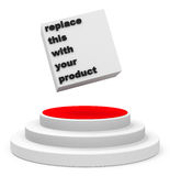 The product presentation. 3d generated picture of a product presentation Royalty Free Stock Photos