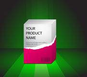 Product preview on a green Royalty Free Stock Image