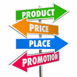 Product Price Place Promotion 4 Ps Marketing Signs Royalty Free Stock Images